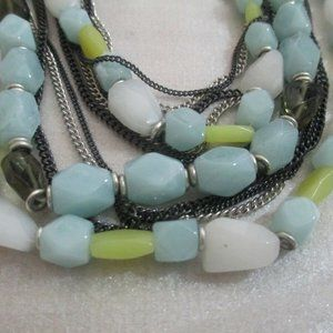 Kenneth Cole Signed Necklace Lucite multi strand